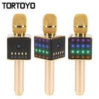 Wholesale Home Karaoke Player - H8 Bluetooth Wireless Smart Karaoke Microphone Player Speaker Subwoofer Home KTV Speaker for i-os Android TF Card DHL