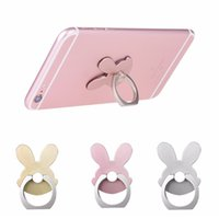 Rabbit Design Phone Holders 360 Degree Metal Finger Ring Teléfono móvil Smartphone Stand Holder para iPhone para Samsung Smart