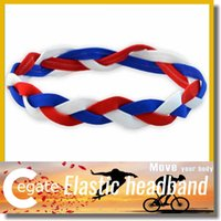 Softball Hairbands Kaufen -Baseball-Softball sports Stirnbänder gesetztes elastisches Nylon für Mädchen geflochtenes mini non-slip hairbands freies Verschiffen