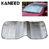 Wholesale back windshield - Wholesale- Car Protective Paarasol sun back shield curtains Foldable Car Back Windshield Sunscreen Foil 140 x 70 cm