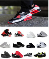 Wholesale Winter High Cut Running Shoes - Hot Sale Air Cushion 90 Running Shoes For Women Men High Quality Sport Shoes Black White Air 90 Trainers Sneakers Eur 36-46