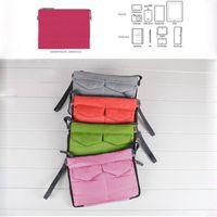 Wholesale Ipad Purse Organizer - Wholesale- travel pouch Insert Handbag Organiser liner Purse Organizer tidy Bag ipad case