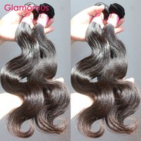"Wholesale Brazilian Cuticle Hair - Glamorous Superior Quality Virgin Brazilian Hair Weaves 5Pcs lot 8""-34"" Full Cuticle Dyable Peruvian Indian Malaysian Remy Human Hair Bundle"