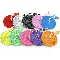 Wholesale Colorful 1m Micro Usb - Charging cable nylon braided colorful Micro USB Cable Sync fabric usb charging cable for Samsung LG 1M 3ft 2M 6ft 3M 10ft