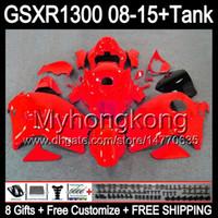 Wholesale Hayabusa Red - gloss red 8gifts For SUZUKI Hayabusa GSXR1300 2008 2009 2010 2011 14MY226 GSXR-1300 GSX R1300 GSXR 1300 2012 2013 2014 2015 TOP red Fairing