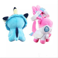 Wholesale HOT Cartoon Poke Plush Toys Ball Stuffed Dolls Umbreon Eevee Espeon Jolteon Vaporeon Flareon Glaceon Leafeon MON toy Christmas gift