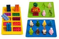 3pcs / set FDA Soft Silicone Candy Chocolate Cake Molds Ice Cube Tray Mould - Lego Building Bricks and Figures