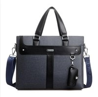 Wholesale Daily Dress - 2017 Men Leather soft Handbag Volume Business Briefcase Men's Top Handle Fashion Daily Carry Tote Shoulder Man Bag