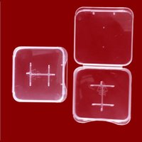 Wholesale Plastic Memory Card Case - TF Card Plastic Case box Transparent Standard Memory Card Holder white box Storage Case for TF micro SD card