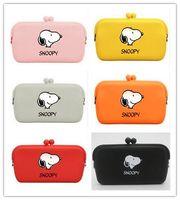 Wholesale Handbag Silicone Case - 2017 Wholesale 10 Colors Cartoon Snoopy Dogs Multifunctional Silicone Package Purse Handbag Phone Bag Coin Bag Glasses Case Hasp Wallet