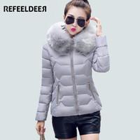 Wholesale Winter Coats Fashion Ladies Fur - Wholesale- New Arrivals Women Basic Coats 2016 Spring Autumn Winter Jacket Women Long Sleeve Parka Jacket Ladies Manteau Femme