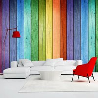 Wholesale Insulation Interior Walls - Wholesale-Colorful Rainbow Color Board Modern Creative Interior Photo Wallpapers Custom Any Size 3D Wall Murals Home Decor Papel De Parede