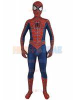 Wholesale Popular Kids Costumes - 2017 Newest Raimi Spider-man Costume 3D Printed Fullbody Lycra Halloween Cosplay Spiderman Costume The Most Popular Zentai Suit