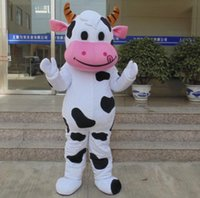 Wholesale Cow Costumes For Sale - 100% real photo of Good vision dairy cattle milk cow mascot costume for adult to wear for sale