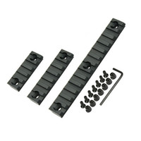 ingrosso slot in lega di alluminio-Lega di alluminio Keymod Picatinny Set di binari per tessitore con viti Paramani per rotaie per accessori di montaggio 2