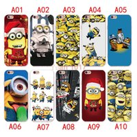 Wholesale Minion Silicone - New style Cute-Minions Case For iPhone 7 6 6S plus Silicone Cover Case Luxury Ultra Thin Soft TPU For iPhone 5 4 se Mobile Phone bag