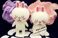 Wholesale Doll Line Brown - 2017 9pcs set 7-8cm Line Friends Brown Bear & Cony Rabbit Action Figures Anime figurine emoticons character dolls toy