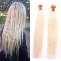 Wholesale Blonde Human Braiding Hair - Passion Human Hair Extension #10 Straight Brazilian Hair 4 Bundles Blonde Straight Remy Hair Weave Bundles crochet braids