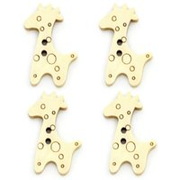 Wholesale Giraffe Wooden Buttons - Kimter Giraffe Wooden Sewing Buttons With 2 Holes 24x20mm For Jewelry And Decorating Clothing Cartoon Decorative Pack Of 100pcs I628L