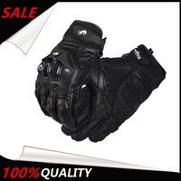 Wholesale Armed Motorcycle - Wholesale- The Latest Armed Leather Mesh Gloves Knight Gloves Gants Moto Luvas de Moto Guantes de moto Motorcycle Riding Gloves