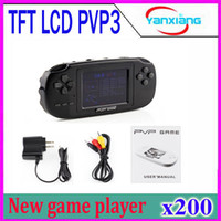 Wholesale Game Cassette - DHL 200PCS New edition 8 bit game player TFT LCD PVP3 Portable Handheld Game Console Enclosed A Game Cassette for children YX-PVP3