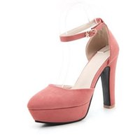 Wholesale Morden Fashion - SJJH Sky high heel and thick platform women shoes with candy 7-colors morden sandals and ankle straps wedding party S055