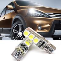 led kuyruk ışıkları fiyat toptan satış-Araba Stylig 2 Adet T10 5050 6SMD CANBUS Genişliği Işık Araba İç Led Strobe Okuma Işık DC12V Kristal Işık Vurgulamak Yok Uyarı