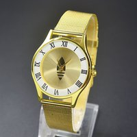 Wholesale Stainless Steel Mesh Watch Straps - Top Brand Luxury Women Watch Waterproof Clock Male Sports Watches Men Quartz Casual Wrist Watch stainless steel mesh strap ultra thin dial
