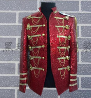 Wholesale singer dance clothing - Red men suits designs masculino homme terno stage costumes for singers men black blazer dance clothes jacket style dress rock novelty