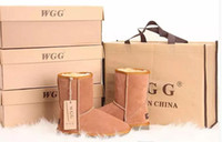 ботинки для австралийских ботинок оптовых-Фабрика горячая 2017 классический бренд WGG женщины популярные Австралия натуральная кожа сапоги мода женщин снег сапоги US5--US10