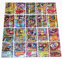 Wholesale Toys For Kids Shipped - No Repeat English POKE GX Trading Card 60 70 Card 60 Mega Cards EX Cards For TCG Cards Games KIDS TOY AS A GIFT Free Shipping