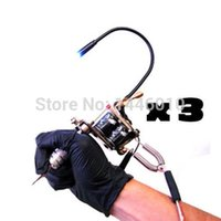 Wholesale-Crazy Tattoo Machine Light Flexible White LED Light Adjustable Gun 3 peças Tattoo Accessories Frete grátis