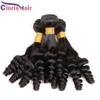 Wholesale Cheap Hair Spirals - Aunty Funmi Hair Raw Indian Human Hair Weave 10 Bundles Cheap Bouncy Spiral Romance Curls Hair Extensions Wholesale Price Overnight Shipping