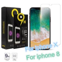 Wholesale Protection Films - Screen Protector For Tempered Glass Protection HD Film For iPhone 8 6 7 Plus Galaxy S7 S6 0.26mm 2.5D 9H Anti-shatter Paper Box