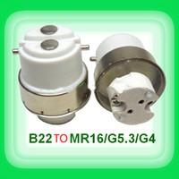b22 e17 al por mayor-Carga libre B22 girar MR16 G4 E12 E17 E27 GU10 portalámparas Convertidor Adaptador tapa de lámpara para G5.3