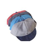 Wholesale Baby Baseball Hat Beret - Summer Cotton Baby Hats Cute Casual Striped Soft Eaves Baseball Cap Baby Boy Beret Baby Girls Travel Lemon Sun Hat 2105021