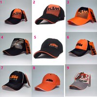 Wholesale Free Horse Racing - he new KTM division horse racing team hat VR46 motorcycle cap outdoor sports baseball caps Article right K diagonal