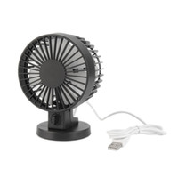 Vente en gros - Chaud! Mini portable Double Blade Desk Super Mute Ordinateur portable USB Cooler Small Fan Black