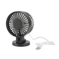 Wholesale dual usb fan - Wholesale- Hot ! Mini Portable Dual Blade Desk Super Mute Laptop PC USB Cooler Small Fan Black