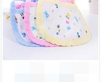 Wholesale Kids Printed Towels Sizes - NEW baby bibs cotton Lunch Bibs  Towel Saliva Baby Kids Infants Cute Bibs cute print cotton bibs size 18cm x 15cm