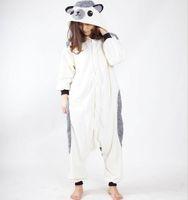 Wholesale Cheap Cartoon Movies - Fashion White Unisex Adult Home Hedgehog Pajamas Kigurumi Cosplay Costume Onesie Cartoon Flannel Annimal Onesie Sleepwear Stock Cheap