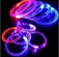 blinkende farbwechselarmbänder großhandel-LED-Blitz Blink Blinklicht Farbwechsel Lampe Party Fluoreszenz Club Bühne Armband Armreif