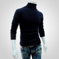 Wholesale Turtle Neck Sweaters Warm - Gold Hands 2017 Autumn Hot Style Western Men Warm Undershirt High Collar Long Sleeve Knitted Sweater M-2XL Many Colors Free Shipping