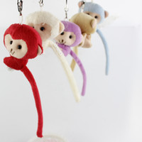 Wholesale Silicone Doll Voice - Factory direct sale The long tail monkey doll plush toys fashion key chain pendant Birthday gift to women