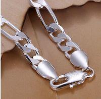 pulseira de 925 libras para homens venda por atacado-Inteligente 925 Sterling Silver Banhado A 8 MM Homens Pulseira Pulseira de Jóias Presente