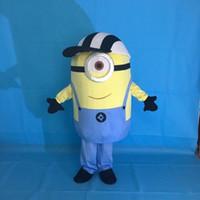 Wholesale Despicable Stuart - 2017 100% real images suit Despicable me minion mascot costume minion mascot EMS kevin stuart and Bob minion mascot Free Shipping