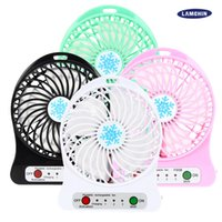 outdoor pedestal fans - F95B Mini Portable Fan Multifunctional USB Rechargerable Kids Table Fan LED Light Battery Adjustable Speed for Indoor Outdoor Kids