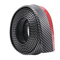 spoiler avant en fibre de carbone achat en gros de-Pare-chocs avant de voiture en caoutchouc jupe protecteur lèvre séparateur corps anti-rayures spoiler protecteur en fibre de carbone