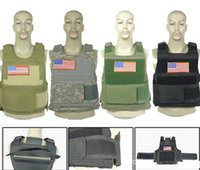 Wholesale Combat Body Armor - Molle Combat Vest Strike Plate Carrier Paintball Body Armor Vests Hunting Training Tactical Vest