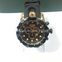 Wholesale Strap New Product - 2017NEW United States Brazil Hot Products INVICTA Outdoor Mountaineering Calendar Men's Quartz Watch Silicone Strap 51.56 Large Dial DZ7333